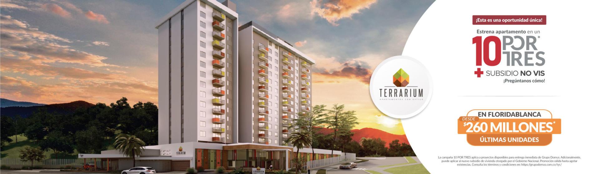Terrarium en Floridablanca - apartamentos para entrega inmediata - Grupo Domus